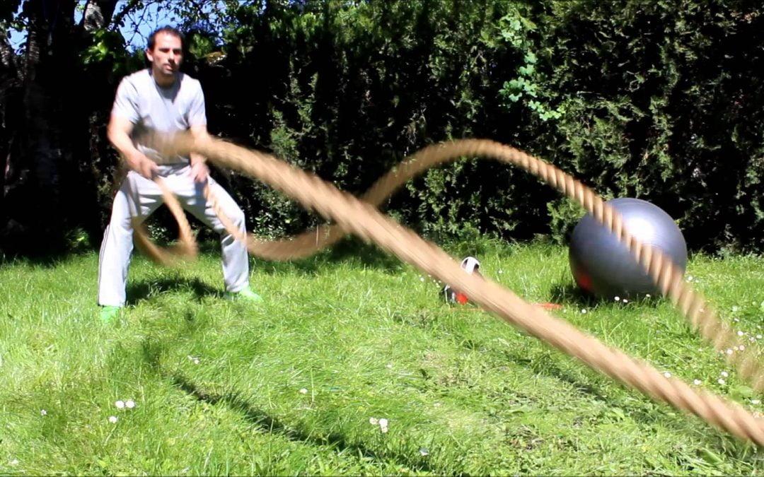 Exercices cardio avec corde