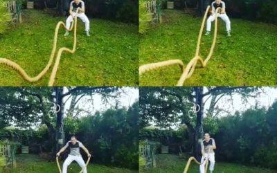 Exercices cardio avec cordes